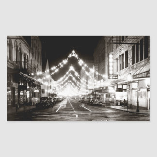1942 Honolulu's Fort Street at Night Sticker