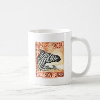 1942 Ruanda Urundi Zebra Postage Stamp Coffee Mug
