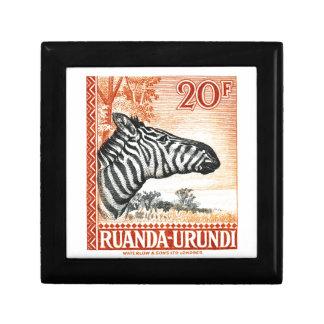 1942 Ruanda Urundi Zebra Postage Stamp Gift Box