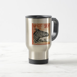 1942 Ruanda Urundi Zebra Postage Stamp Travel Mug