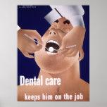 1942 Vintage Navy Dental Health Poster