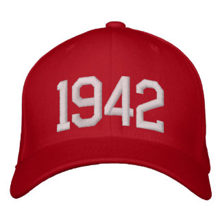 1942 Year Embroidered Hats