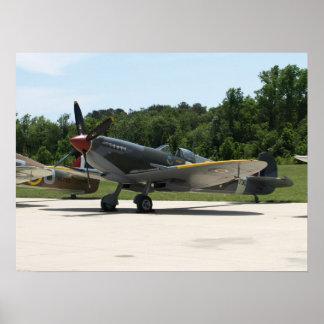 1943 Supermarine Spitfire Mk IXe. Poster