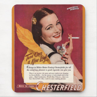 1944 cigarette ad for Chesterfield Mouse Pad