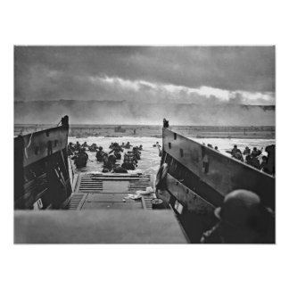 1944 Invasion of Normandy Omaha Beach Poster