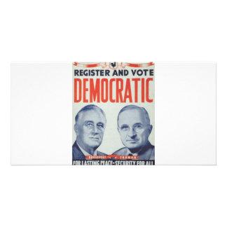 1944 Roosevelt - Truman Customized Photo Card