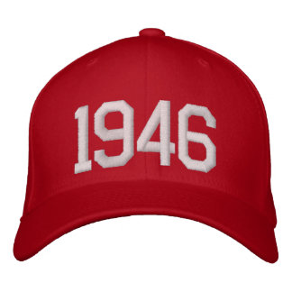 1946 Year Embroidered Hats