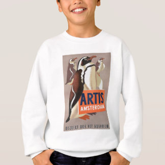 1947 Artis Zoo Amsterdam Penguins Poster Sweatshirt