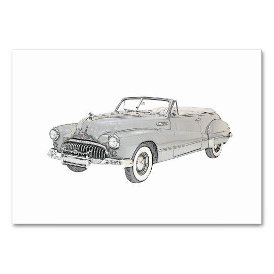 1947 Buick Roadmaster Convertible Illustration Card