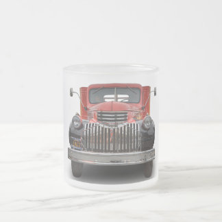 1947 CHEVROLET STAKE TRUCK 10 OZ FROSTED GLASS COFFEE MUG