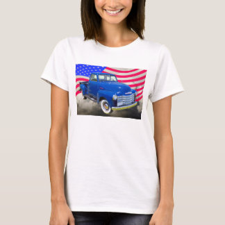 1947 Chevrolet Thriftmaster Pickup With US Flag T-Shirt