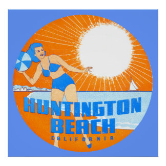 1947 Huntington Beach California Poster