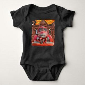 1947 International Fire Truck Design Baby Bodysuit