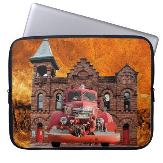 1947 International Fire Truck Design Laptop Computer Sleeve