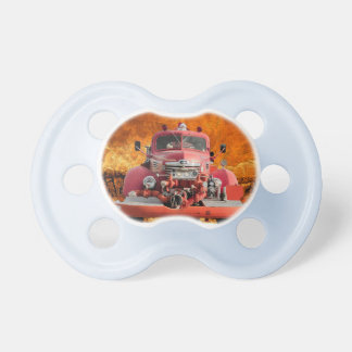 1947 International Fire Truck Design Pacifier
