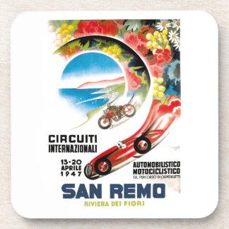 1947 San Remo Grand Prix Race Poster Beverage Coaster