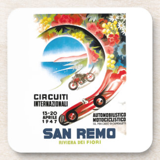 1947 San Remo Grand Prix Race Poster Coaster