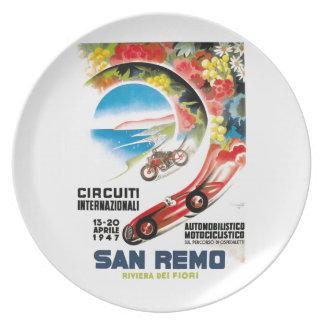 1947 San Remo Grand Prix Race Poster Plate