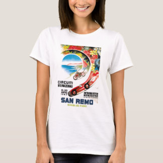 1947 San Remo Grand Prix Race Poster T-Shirt