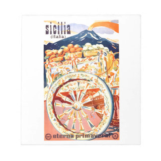 1947 Sicily Italy Travel Poster Eternal Spring Notepad
