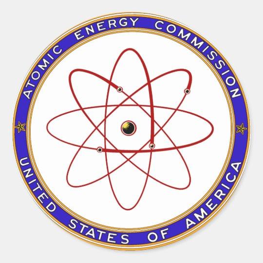 1948 Atomic Energy Commission Vintage Logo Classic Round Sticker