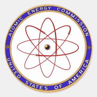 1948 Atomic Energy Commission Vintage Logo Round Sticker