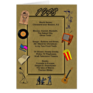 1948 Great Events Birthday Card