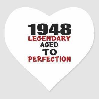 1948 LEGENDARY AGED TO PERFECTION HEART STICKER