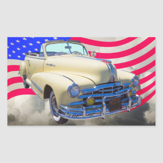 1948 Pontiac Silver Streak And United States Flag