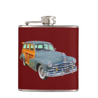 1948 Pontiac Silver Streak Woody Antique Car Flask