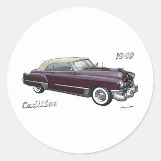 1949 CADILLAC # 2 ROUND STICKER