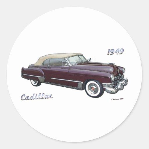 1949 CADILLAC # 2 STICKER