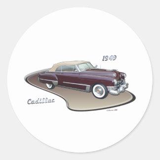 1949 CADILLAC ROUND STICKER
