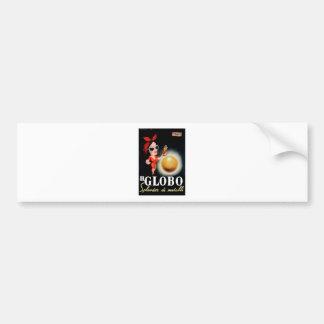1949 Il Globo Italian Advertising Poster Bumper Sticker