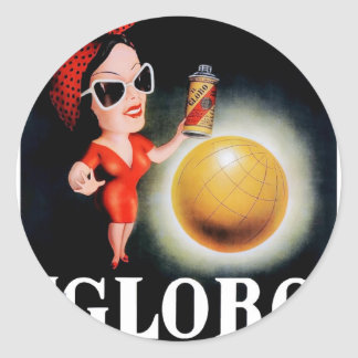 1949 Il Globo Italian Advertising Poster Classic Round Sticker