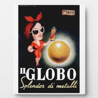 1949 Il Globo Italian Advertising Poster Plaque