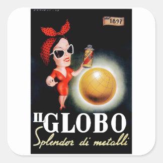 1949 Il Globo Italian Advertising Poster Square Sticker