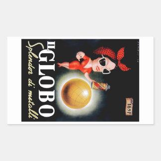 1949 Il Globo Italian Advertising Poster Sticker