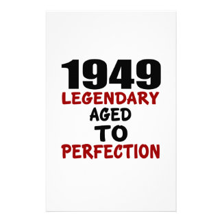 1949 LEGENDARY AGED TO PERFECTION CUSTOMIZED STATIONERY