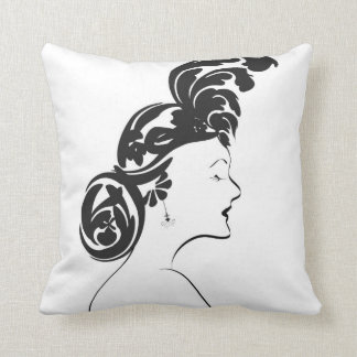 1949 Silhouette Throw Pillow