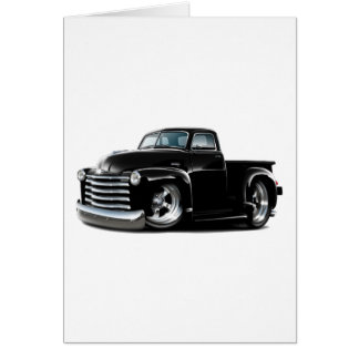 1950-52 Chevy Black Truck Card
