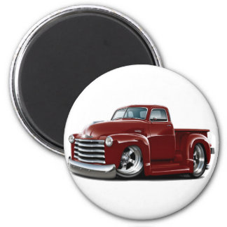 1950-52 Chevy Maroon Truck Magnet