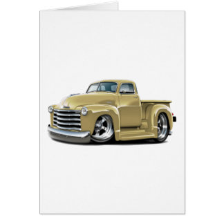 1950-52 Chevy Tan Truck Card