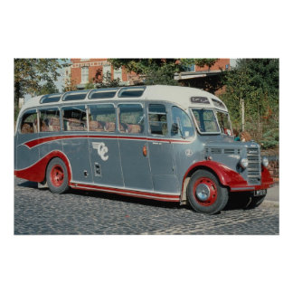 "1950 Bedford duple-bodied """"Vista"""" of Classic Coa Poster"