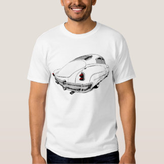 1950 Buick Lead Sled in White with colored accents Shirt