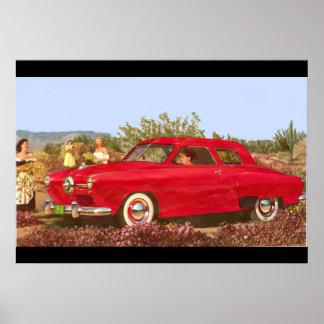 1950 Car Advertisement Photo Poster