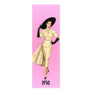 1950 Fashion Bookmark Mini Business Card