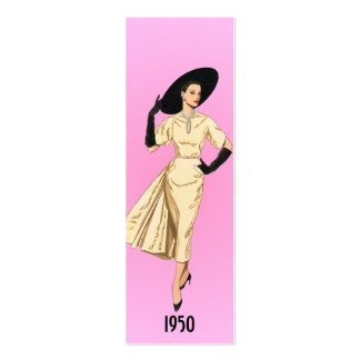 1950 Fashion Bookmark Pack Of Skinny Business Cards