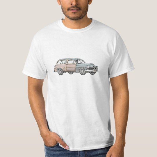 1950 Mercury Woody Station Wagon - blue T-Shirt