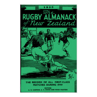 1950 New Zealand Rugby Almanack - Archival Print